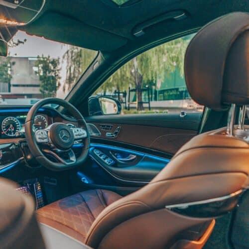 ภายในสวยอลังการของ Mercedes-Benz S Class 2021 เช่าขับเอง