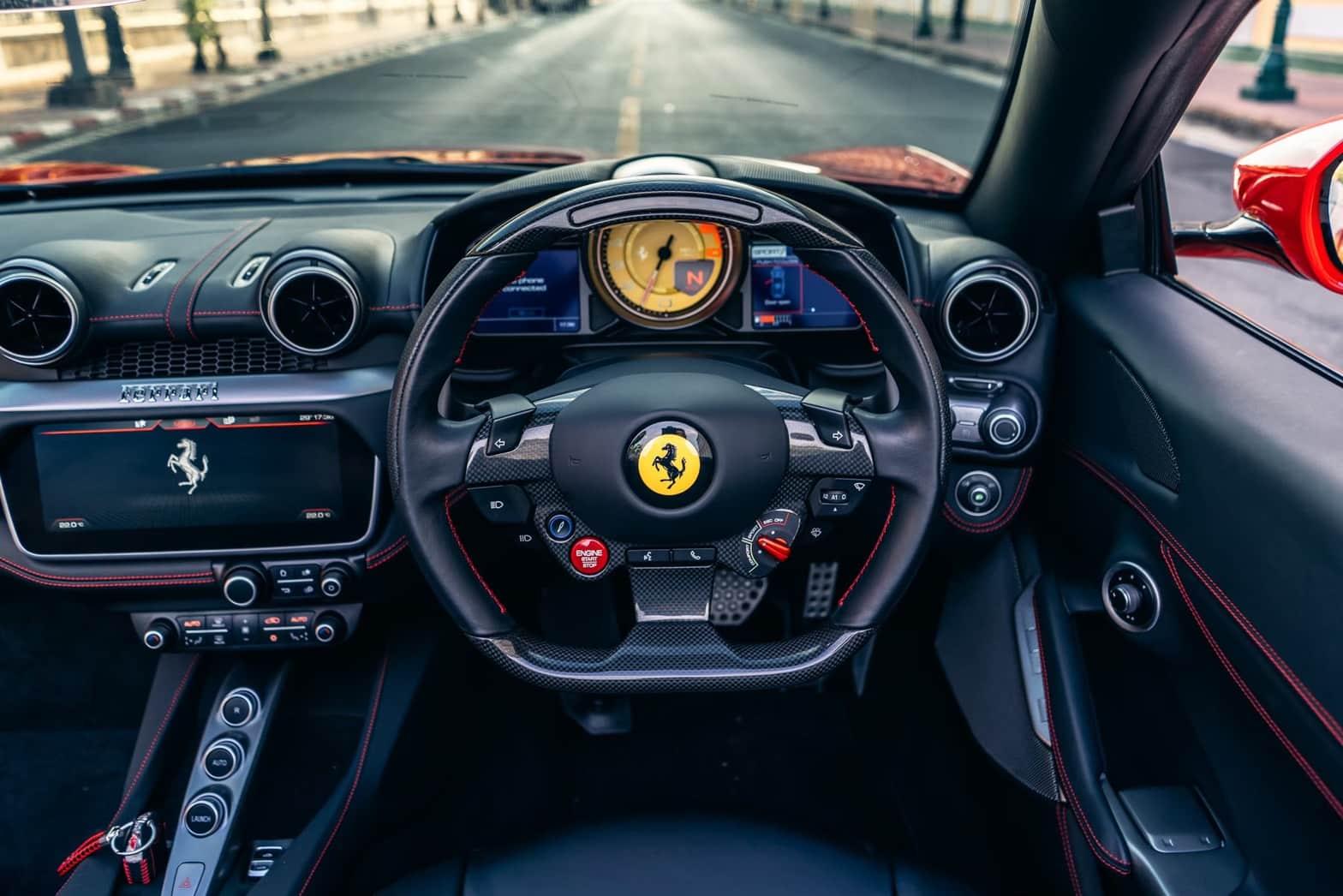 Cockpit ของ Ferrari Portofino