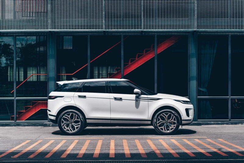 ด้านข้างของ Range Rover Evoque รุ่นใหม่