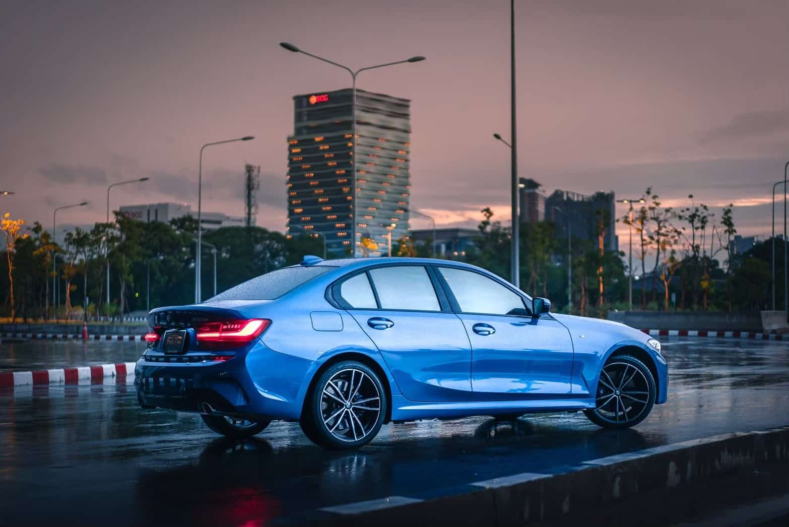 BMW 330e M Sport G20 on the road